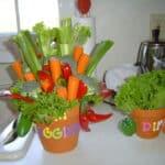 Veggie Bouquet & Baby Shower Cookies