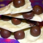 White Chocolate Bark with Whoppers & CRANBERRIES