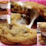 s'more stuffed cookies