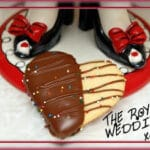 CHOCOLATE DIPPED HEART COOKIES