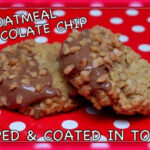 SECRET RECIPE CLUB…CHOCOLATE DIPPED OATMEAL COOKIES