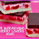 MARASCHINO CHERRY CHEESECAKE BARS