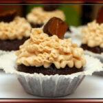 MALTED MILK CUPCAKES WITH SMASHED WHOPPERS & CARAMEL BUTTERCREAM