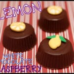 WHITE CHOCOLATE LEMON RASPBERRY CANDY CUPS
