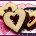 CHOCOLATE DIPPED & JAM FILLED SHORTBREAD HEARTS