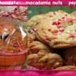 WHITE CHOCOLATE PEPPERMINT MACADAMIA NUT COOKIES