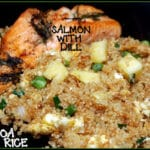 QUINOA FRIED RICE AND SALMON!