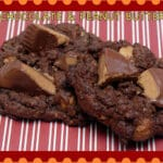 DOUBLE CHOCOLATE PEANUT BUTTER CUP COOKIES