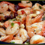 SHRIMP WITH SCALLION CREAM SAUCE