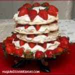 4 LAYER STRAWBERRY MERINGUE CAKE