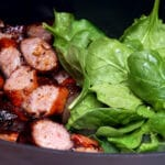 SAUSAGE AND SPINACH…YUM!