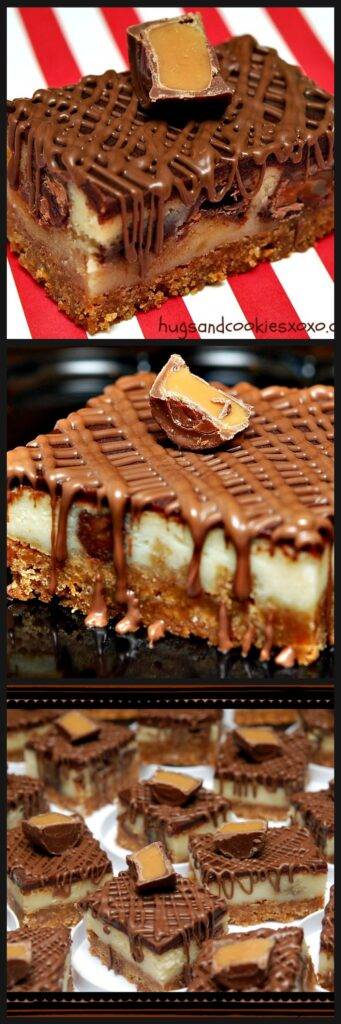 rolo cheesecake bars