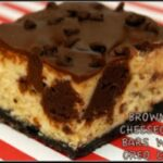 INSANE BROWNIE CHEESECAKE BARS WITH OREO CRUST