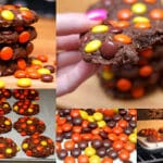 REESE'S PIECES FLOURLESS CHOCOLATE COOKIES