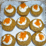 CARROT CAKE MUFFINS WITH CREAM CHEESE FROSTING!