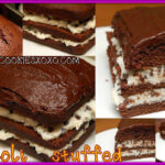 CHOCOLATE LOAF CAKE STUFFED WITH CANNOLI FILLING & COVERED IN THE MOST DELICIOUS CHOCOLATE FROSTING