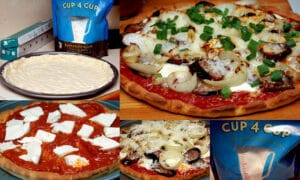 GF PIZZA TOPPED WITH FRESH MOZZARELLA, SAUTEED ONIONS & SAUSAGE & THE BEST SAUCE!