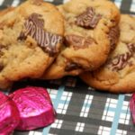 DOVE RASPBERRY CHOCOLATES MEET A SPECTACULAR REESE'S PEANUT BUTTER CUP COOKIE!!