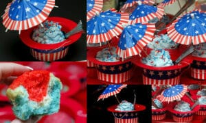 TIE DYE CUPCAKES WITH AMERICAN DECOR! ♥