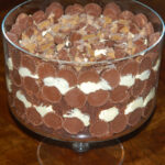 THE REESE'S PEANUT BUTTER CUP BROWNIE TRIFLE OF YOUR DREAMS