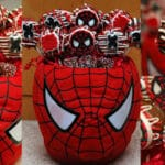 CHOCOLATE DIPPED SPIDERMAN OREO POPS