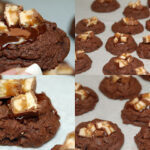 SNICKERS GANACHE THUMBPRINT COOKIES