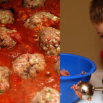 USE AN ICE CREAM SCOOPER TO MAKE MEATBALLS!