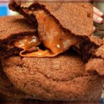 CHOCOLATE SUGAR COOKIES STUFFED WITH ROLOS
