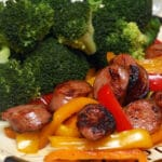 SAUSAGE & PEPPERS WITH BROCCOLI