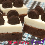 WHITE CHOCOLATE FROSTED OREO BROWNIE BARS