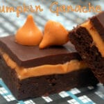 PUMPKIN KISS GANACHE BROWNIES