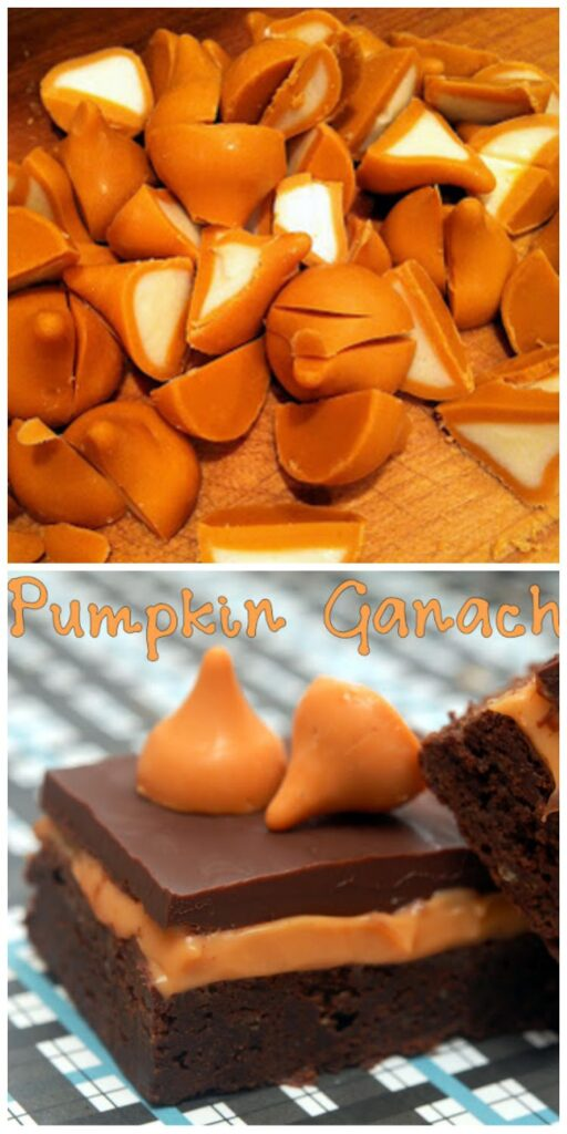 pumpkin ganache brownies