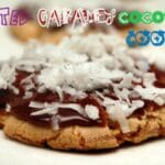 CHOCOLATE GLAZED SALTED CARAMEL COCONUT COOKIES