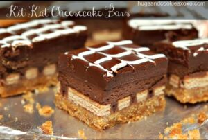 QUADRUPLE LAYER CHOCOLATE CHEESECAKE KIT KAT BARS