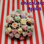 CHOCOLATE DIPPED APPLE MEETS CONVERSATION HEARTS!