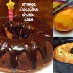 ORANGE CHOCOLATE CHUNK CAKE WITH CHOCOLATE GANACHE!
