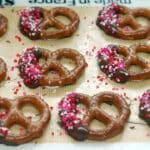 CHOCOLATE DIPPED VALENTINE PRETZELS