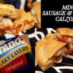 MINI SAUSAGE & CHEESE CALZONES