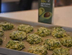 CHEESY BROCCOLI BITES WITH AVOCADO CREAM DIPPING SAUCE….GOOD EATS RIGHT HERE!!!