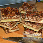 PECAN PIE BARS DIPPED IN CHOCOLATE!
