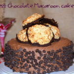 TRIPLE LAYER FLOURLESS CHOCOLATE MACAROON CAKE