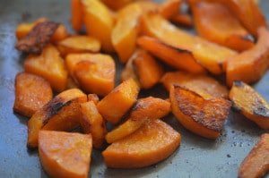 BUTTERNUT SQUASH ROASTED WITH AVOCADO OIL & A TOUCH OF BROWN SUGAR