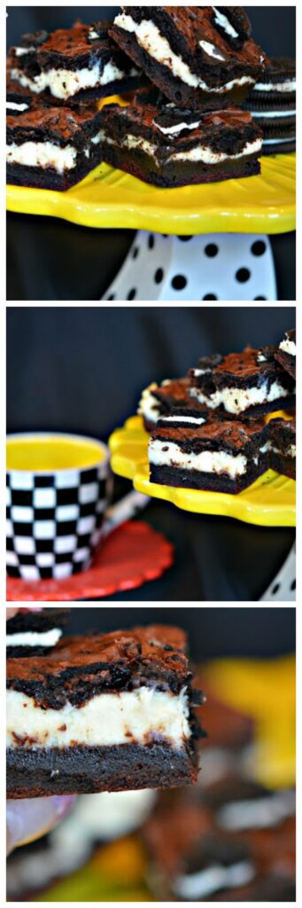 dark chocolate oreo cheesecake bars