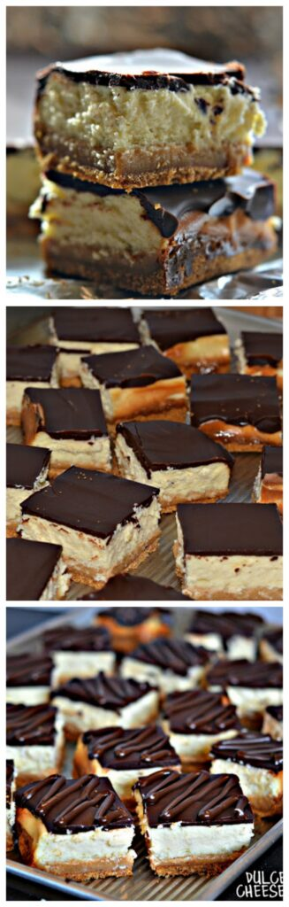 dulce de leche cheesecake and ganache bars