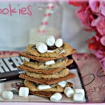 S'MOOKIE COOKIES BAKED ON GRAHAM CRACKERS