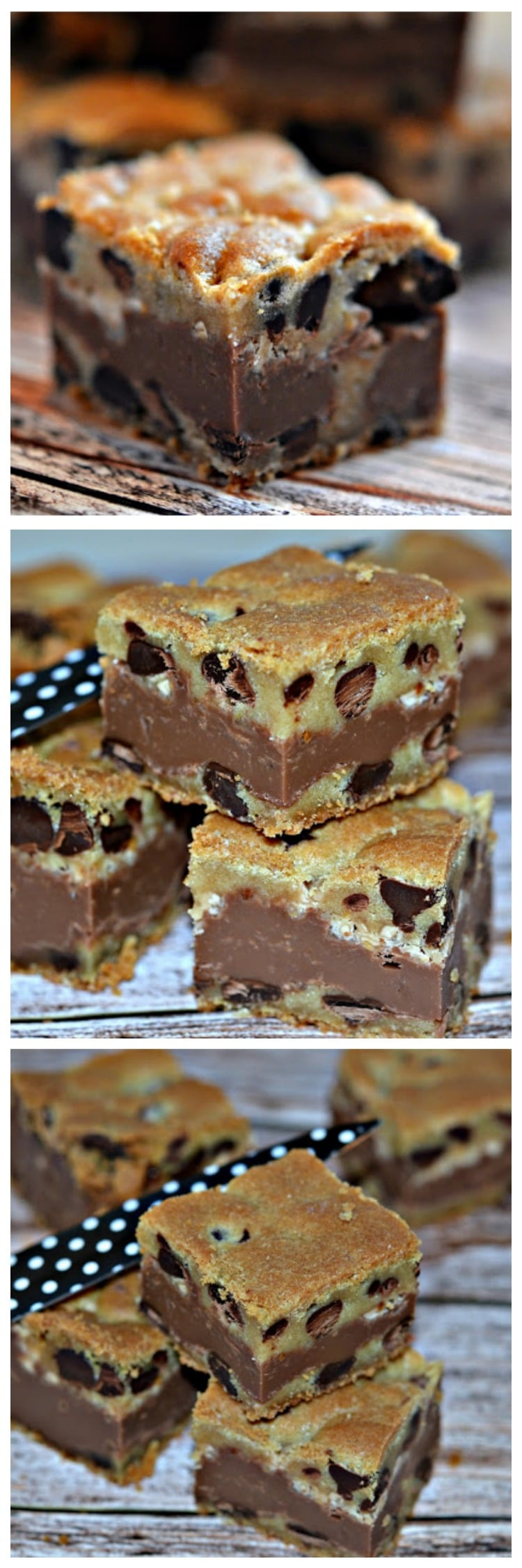 Fudge Amp Toffee Filled Chocolate Chip Cookie Bars Hugs