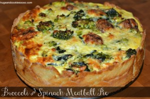 BROCCOLI & SPINACH MEATBALL PIE!!!!