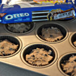 CHOCOLATE CHIP COOKIE CUPS STUFFED WITH OREOS!