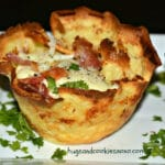 BACON, CHEESE & EGGS BAKED IN CREPE CUPS-THE PERFECT BRUNCH FOOD!