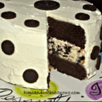 POLKA DOTTED TRIPLE LAYER OREO CHEESECAKE